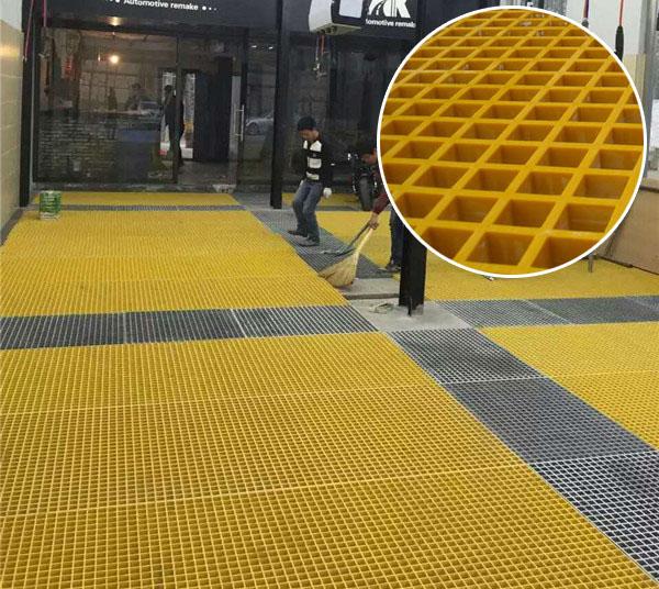 庄河洗车间地面网格板图片